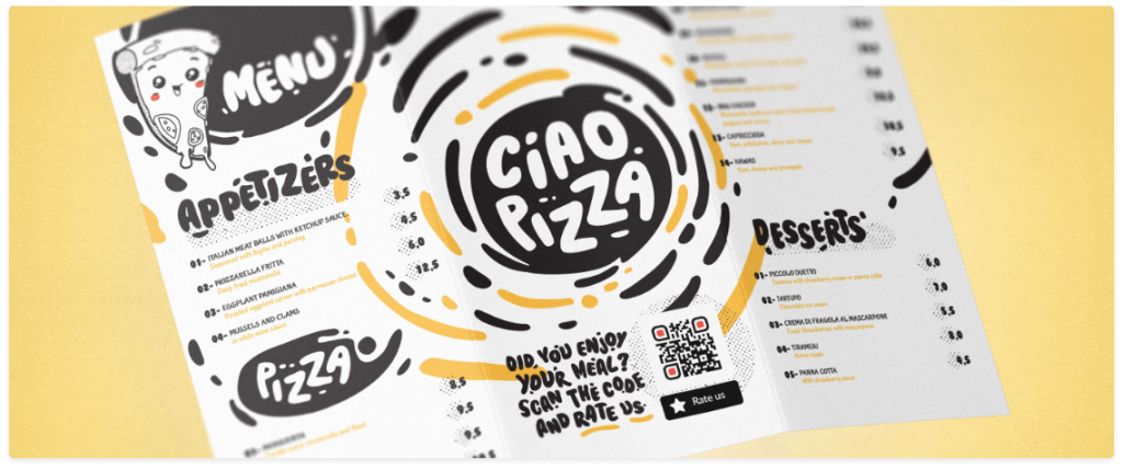 exemplo-panfleto-pizzaria-qr-code